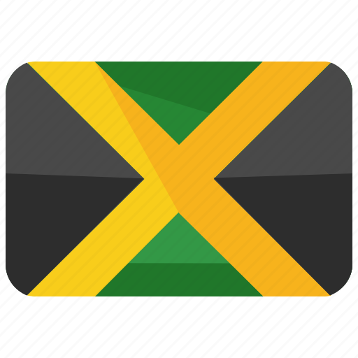 america, country, flag, jamaica, location, map, world icon