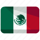 america, country, flag, location, map, mexico, world icon