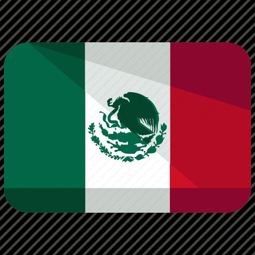 country, flag, mexico icon