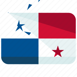 america, country, flag, location, map, panama, world icon