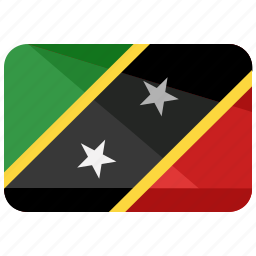country, flag, kitts, map, nevis, saint, world icon