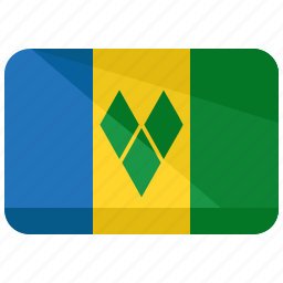 country, flag, grenadines, map, saint, vincent, world icon