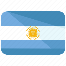 america, argentina, country, flag, map, south, world icon