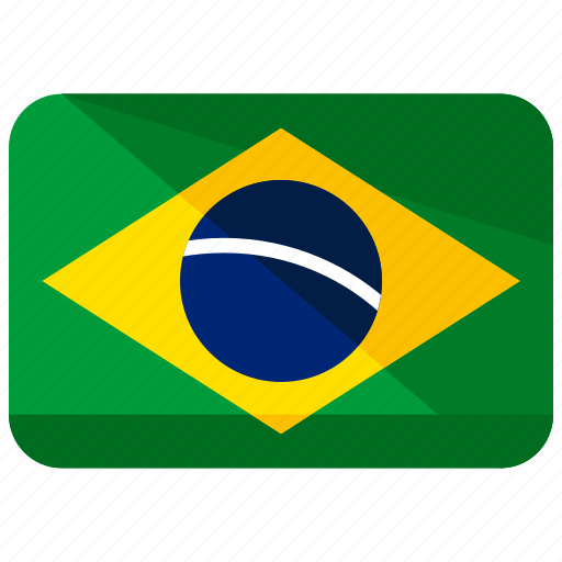 america, brazil, country, flag, map, south, world icon