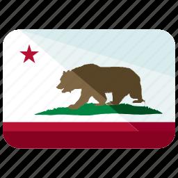 america, california, flag icon