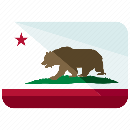 america, california, country, flag, map, republic, world icon