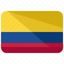america, colombia, country, flag, map, south, world icon