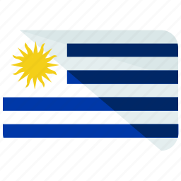 america, country, flag, map, south, uruguay, world icon