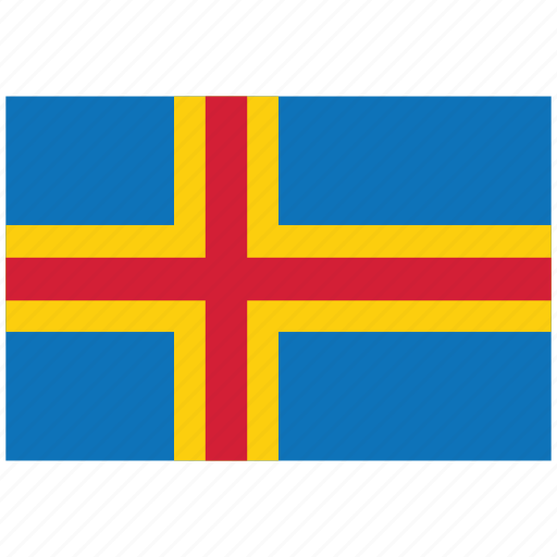 aland, aland's flag, aland's square flag, flag of aland icon