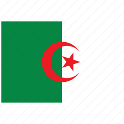 algeria, algeria's flag, algeria's square flag, flag of algeria icon