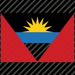 antigua, antigua's flag, antigua's square flag, flag of antigua icon
