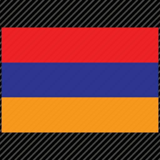 armenia, armenia's flag, armenia's square flag, flag of armenia icon
