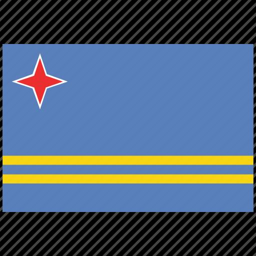 aruba, aruba's flag, aruba's square flag, flag of aruba icon