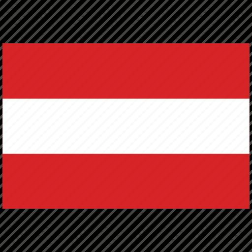 austria, austria's flag, austria's square flag, flag of austria icon