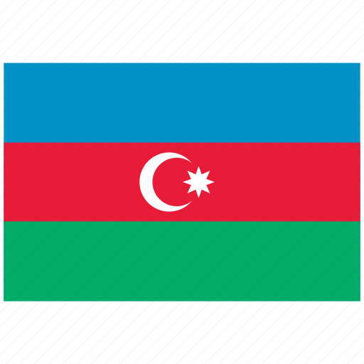 azerbaijan, azerbaijan's flag, azerbaijan's square flag, flag of azerbaijan icon