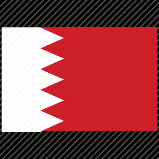 bahrain, bahrain's flag, bahrain's square flag, flag of bahrain icon