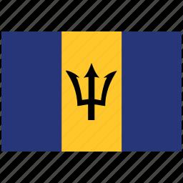 barbados, barbados's flag, barbados's square flag, flag of barbados icon