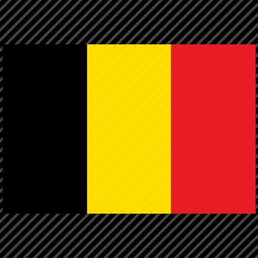 belgium, belgium's flag, belgium's square flag, flag of belgium icon