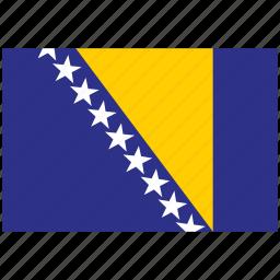bosnia, bosnia's flag, bosnia's square flag, flag of bosnia icon