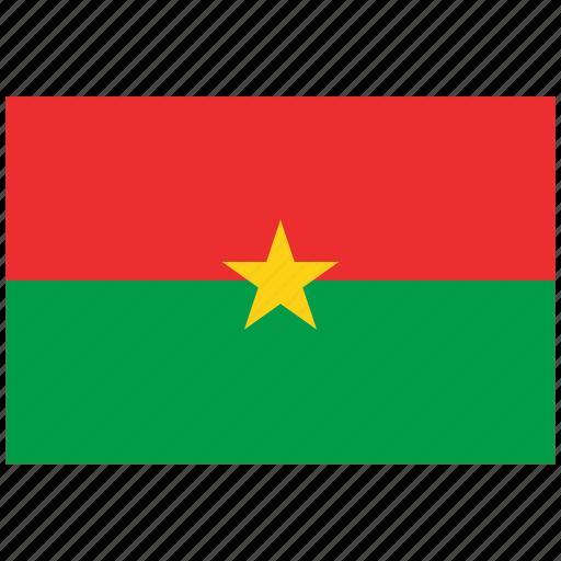 burkina faso, burkina faso's flag, burkina faso's square flag, flag of burkina faso icon
