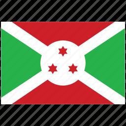 burundi, burundi's flag, burundi's square flag, flag of burundi icon