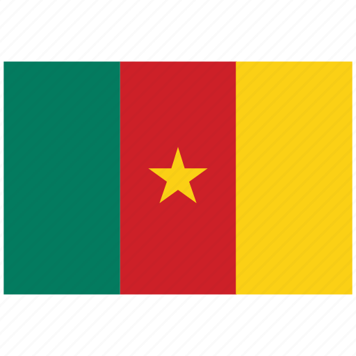 cameroon, cameroon's flag, cameroon's square flag, flag of cameroon icon