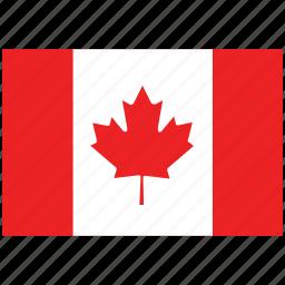 canada, canada's flag, canada's square flag, flag of canada icon