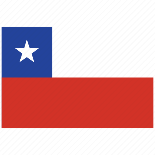 chile, chile's flag, chile's square flag, flag of chile icon