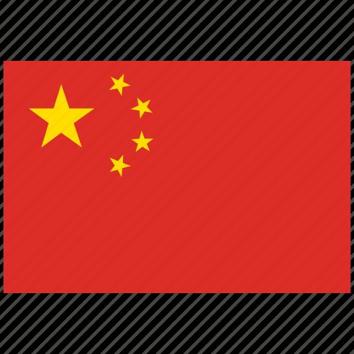 china, china's flag, china's square flag, flag of china icon