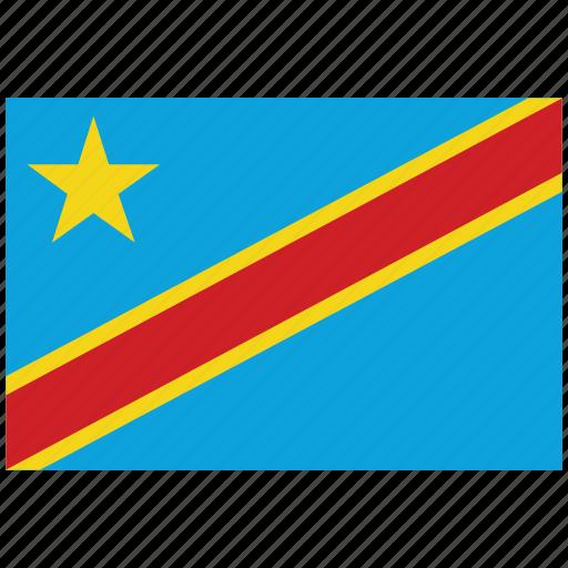 congo, congo's flag, congo's square flag, flag of congo icon