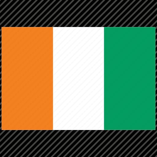 cote d ivoire, cote d ivoire's flag, cote d ivoire's square flag, flag of cote d ivoire icon