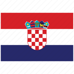 croatia, croatia's flag, croatia's square flag, flag of croatia icon