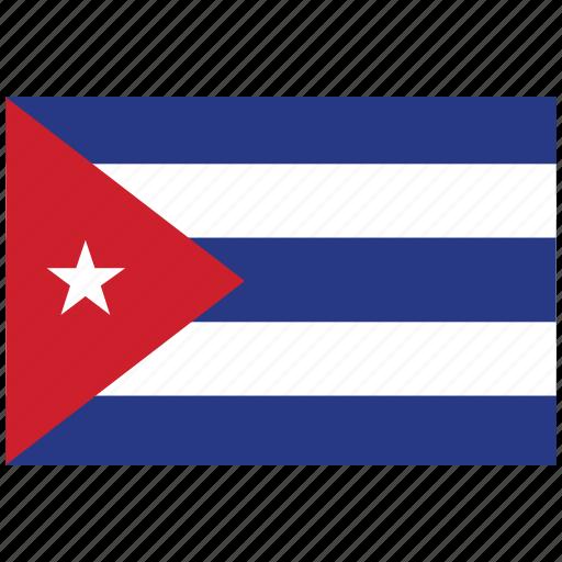 cuba, cuba's flag, cuba's square flag, flag of cuba icon