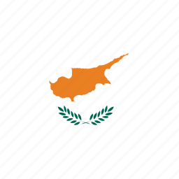 cyprus, cyprus's flag, cyprus's square flag, flag of cyprus icon