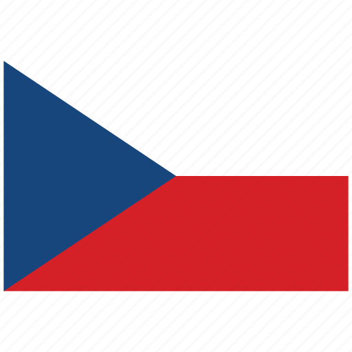 Czech Republic Republics Flag Square Of