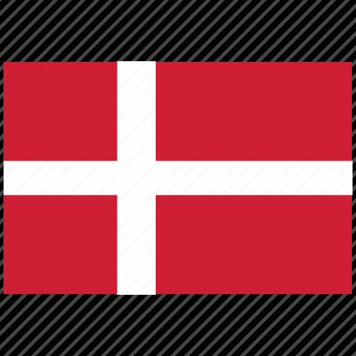 denmark, denmark's flag, denmark's square flag, flag of denmark icon
