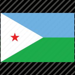 djibouti, djibouti's flag, djibouti's square flag, flag of djibouti icon
