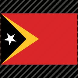 east timor, east timor's flag, east timor's square flag, flag of east timor icon