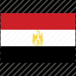 egypt, egypt's flag, egypt's square flag, flag of egypt icon