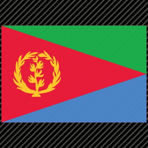 eritrea, eritrea's flag, eritrea's square flag, flag of eritrea icon