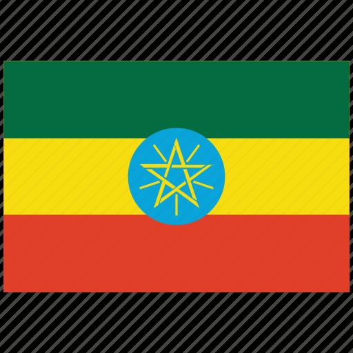 ethiopia, ethiopia's flag, ethiopia's square flag, flag of ethiopia icon