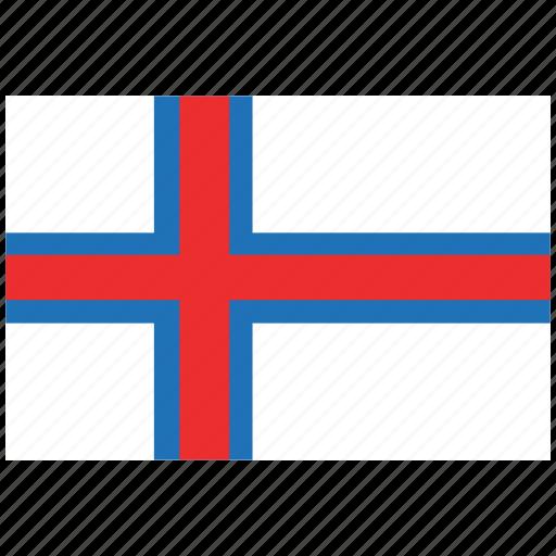 faroe island, faroe island's flag, faroe island's square flag, flag of faroe island icon