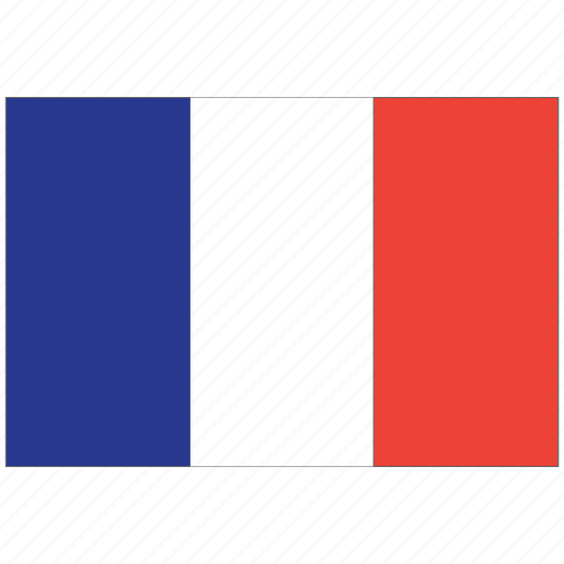 flag of france, france, france's flag, france's square flag icon