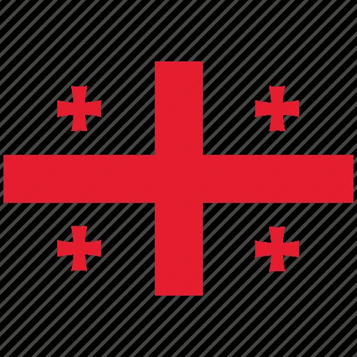 flag of georgia, georgia, georgia's flag, georgia's square flag icon