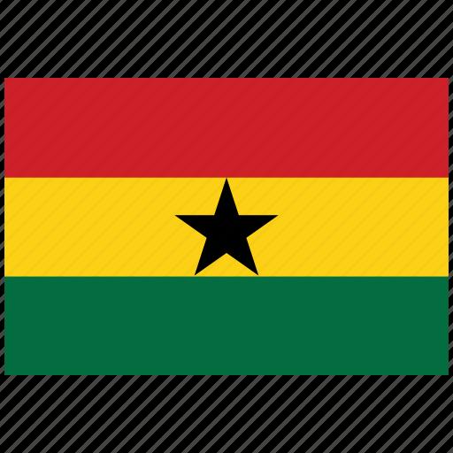 flag of ghana, ghana, ghana's flag, ghana's square flag icon