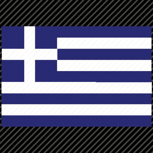 flag of greece, greece, greece's flag, greece's square flag icon