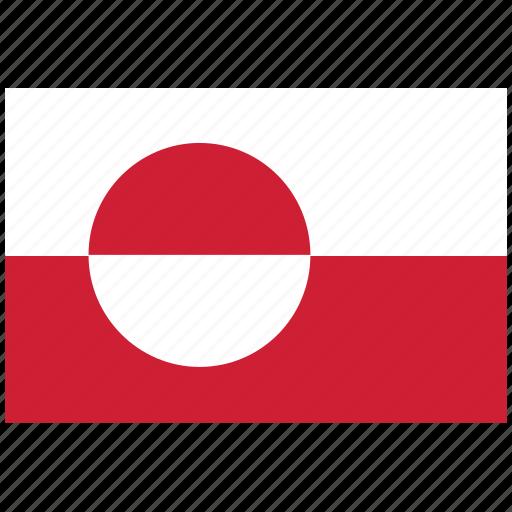 flag of greenland, greenland, greenland's flag, greenland's square flag icon