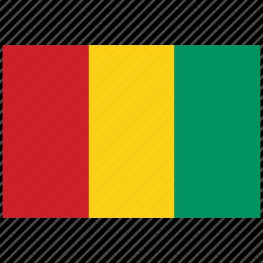 flag of guinea, guinea, guinea's flag, guinea's square flag icon