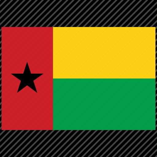 flag of guinea bissau, guinea bissau, guinea bissau's flag, guinea bissau's square flag icon