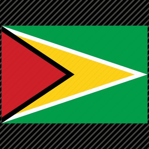 flag of guyana, guyana, guyana's flag, guyana's square flag icon